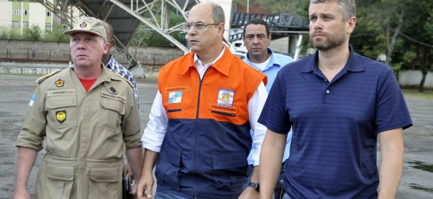 PREFEITO RODRIGO DRABLE SOBREVOA O MUNICÍPIO COM O GOVERNADOR WILSON WITZEL