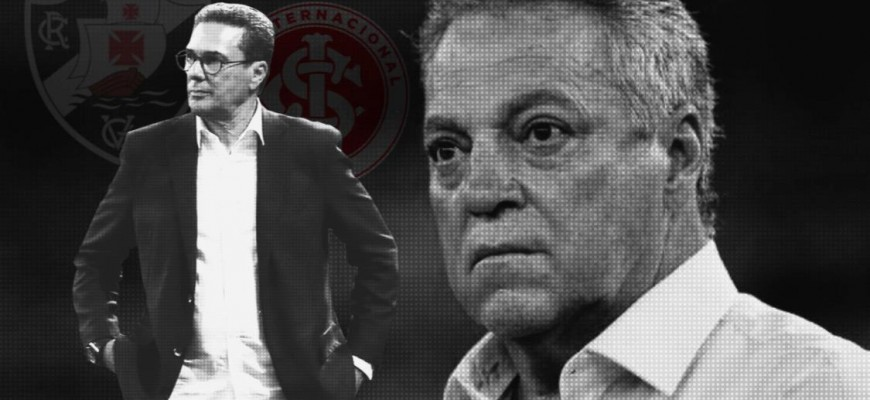Vasco x Inter: duelo de opostos coloca frente a frente os experientes treinadores Vanderlei Luxemburgo e Abel Braga