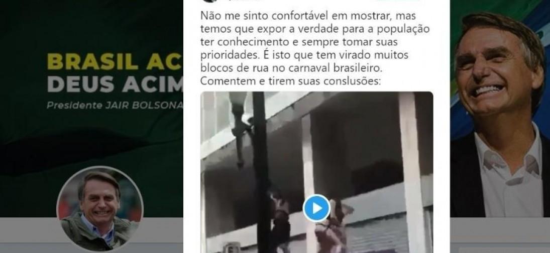 Bolsonaro posta vídeo com homem urinando em outro e o associa a blocos ...