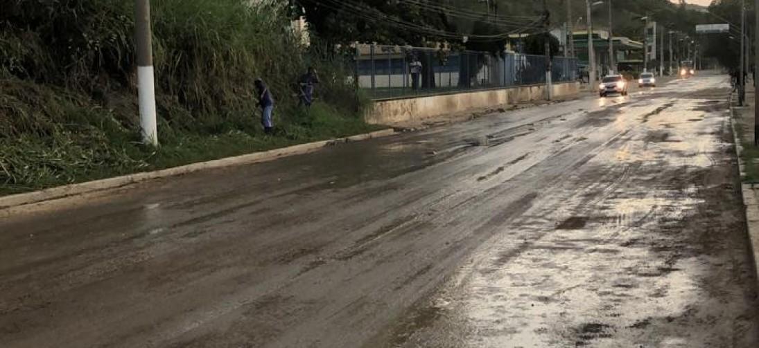 Via Sérgio Braga é liberada para o trânsito de veículos